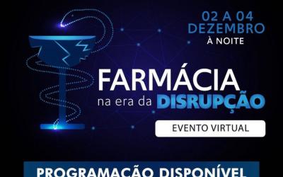 """Inscrições abertas para o evento virtual """"Farmácia na Era da Disrupção"""""""