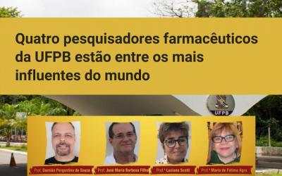 Quatro pesquisadores da UFPB estão entre os mais influentes do mundo