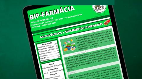 PET-Farmácia/ UFPB divulga boletim sobre nutracêuticos e suplementos alimentares