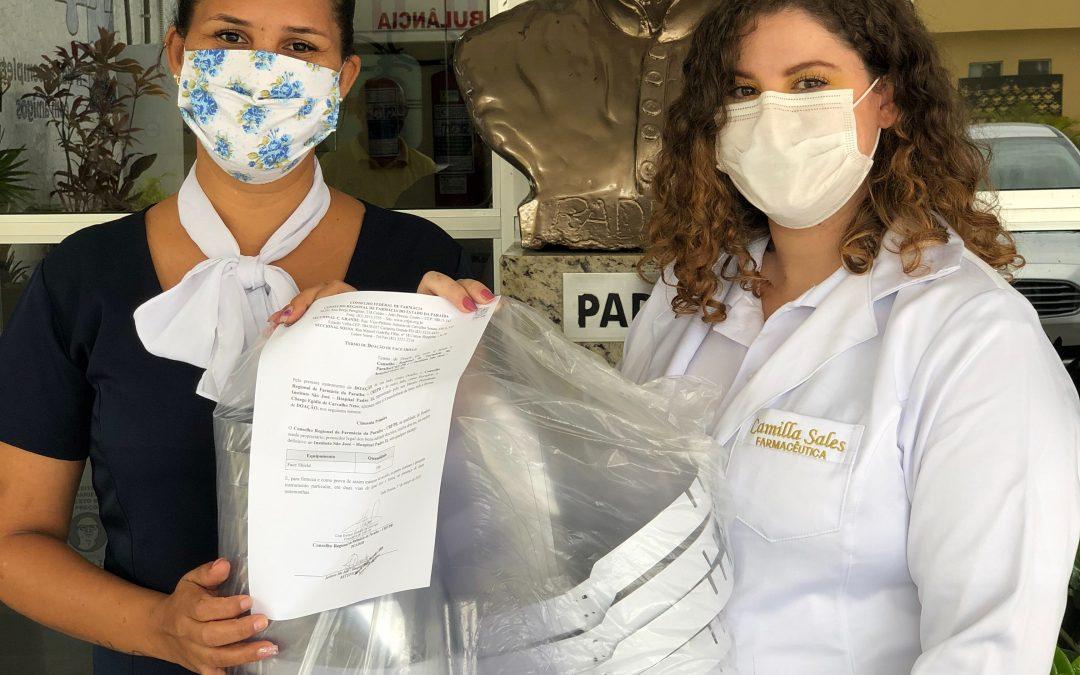 Hospital Padre Zé recebe doação de Face Shields do CRF/PB