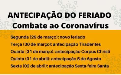 Governo antecipa feriados para evitar maior propagação da Covid-19 na Paraíba